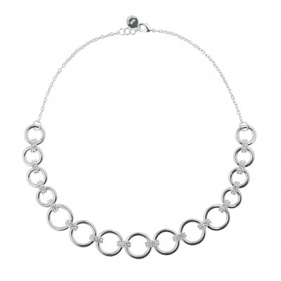 Adara big neck 42 silver/clear