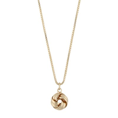 Knot small pendant neck 42 plain gold